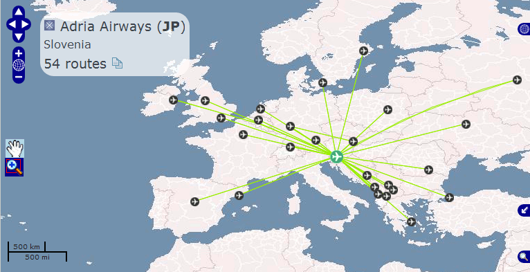 Airline route maps launched metric distances available openflights gumiabroncs Gallery