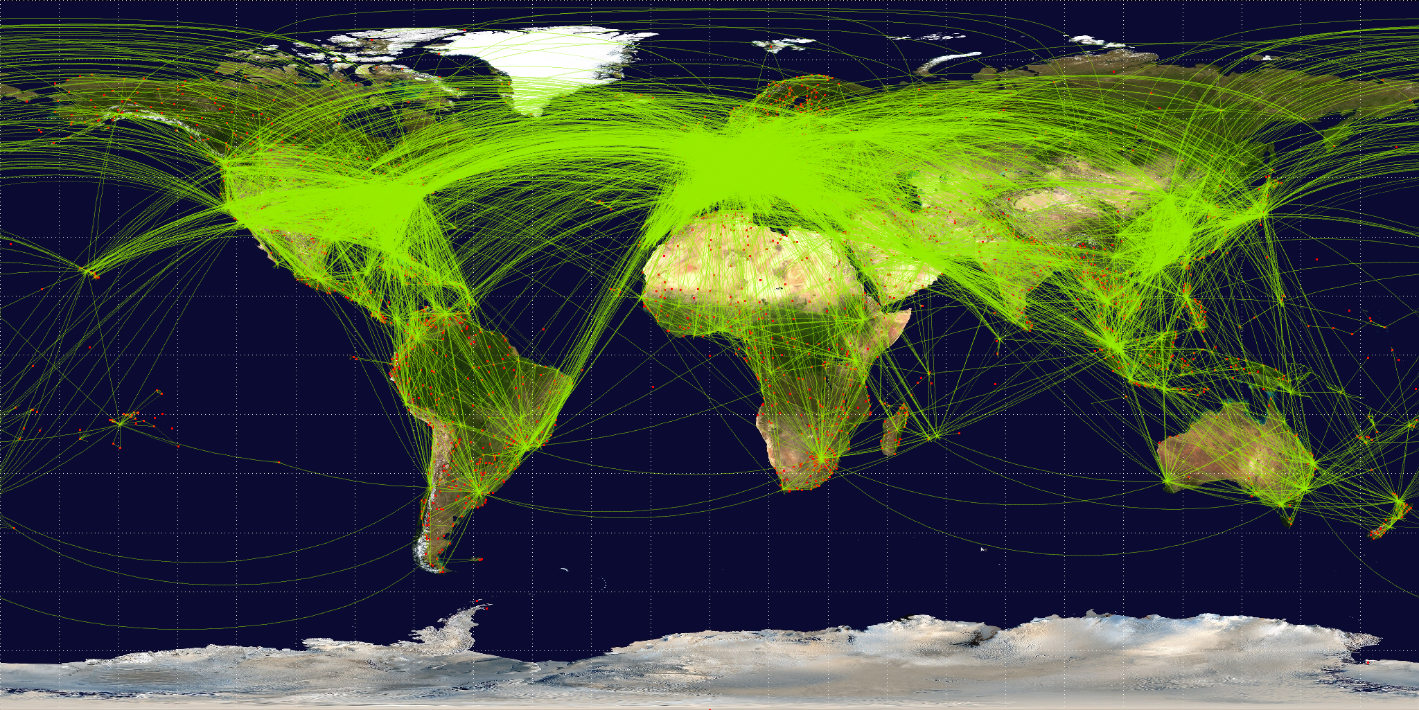 This Cool Animation Tracks How All the Worlds Airports Are Connected – Live Global Map